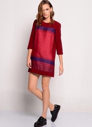 Jovonna Truvakar Kol Mini Elbise Bordo